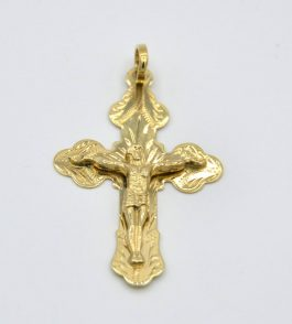 Pandantiv cruce din Aur barbati Eli