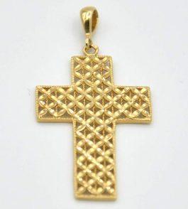 Pandantiv cruce din Aur dama Mary