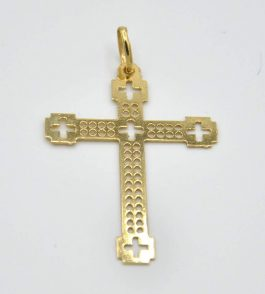 Pandantiv cruce din Aur barbati Ibrahim