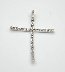 Pandantiv cruce din Aur dama Halie