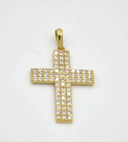 Pandantiv cruce din Aur dama Spring