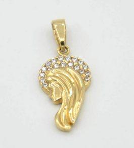 Pandantiv iconita din Aur dama Adela
