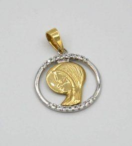 Pandantiv iconita din Aur dama Dais