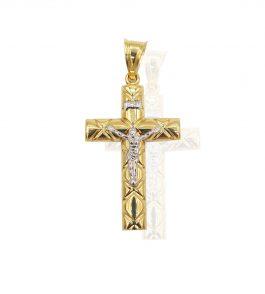 Pandantiv cruce din Aur barbati Marian