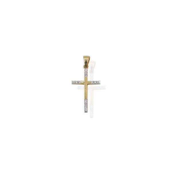 Pandantiv cruce din Aur dama Aura