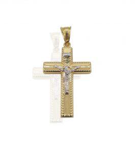 Pandantiv cruce din Aur Edan