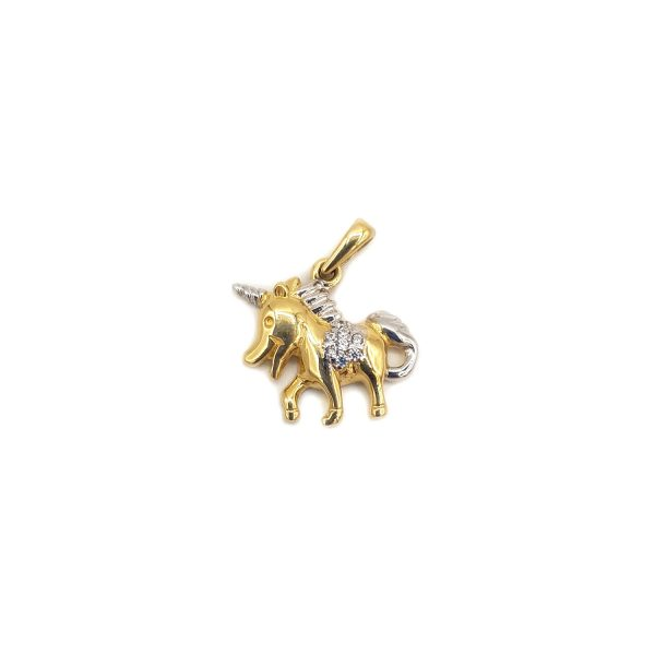 Pandantiv din Aur Unicorn